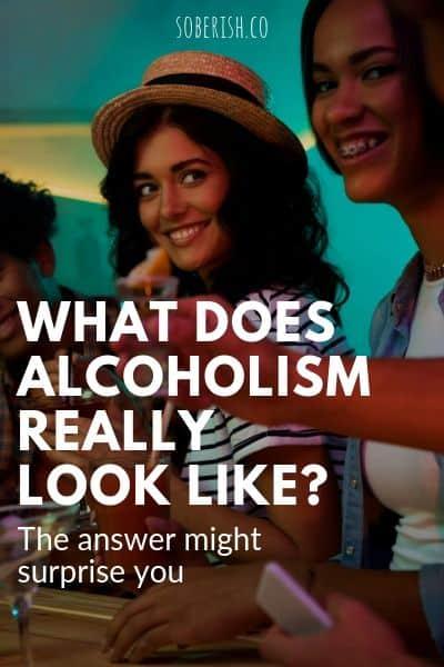 smiling alcoholic women at a bar