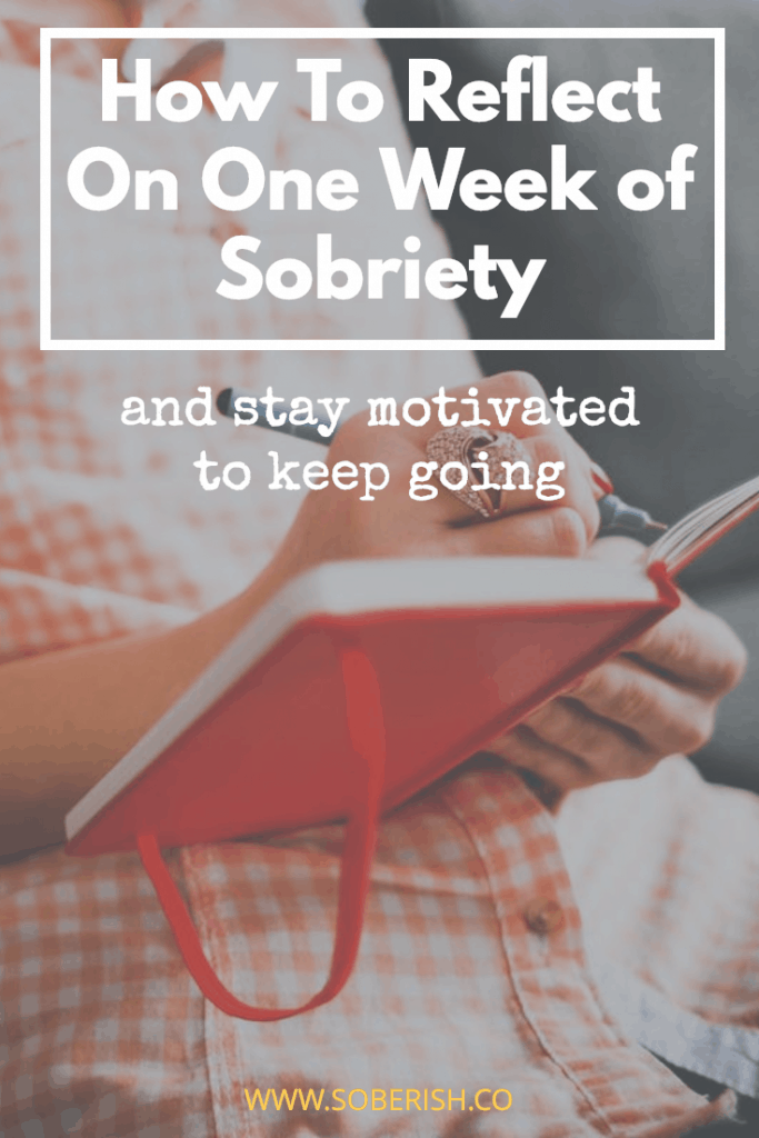 one week sober