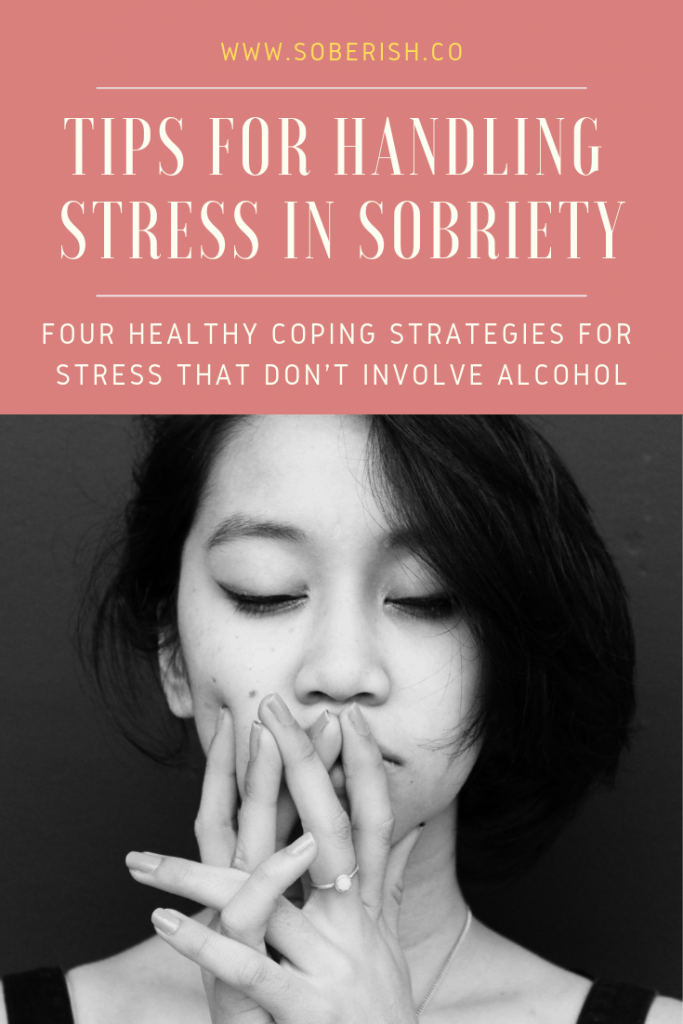 Woman tries to manage stress in sobriety