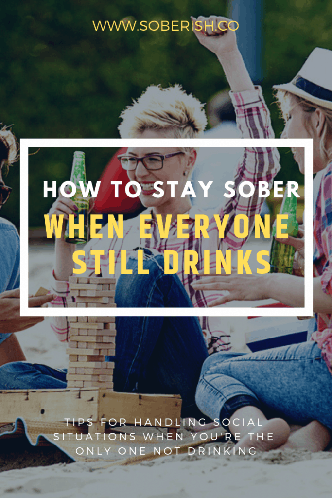 How to stay sober around alcohol