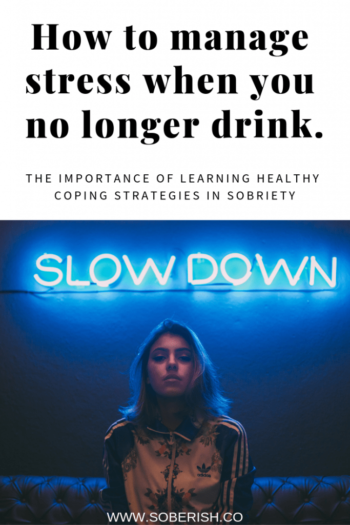 Woman learns strategies to manage stress in sobriety