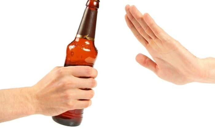 declining a drink