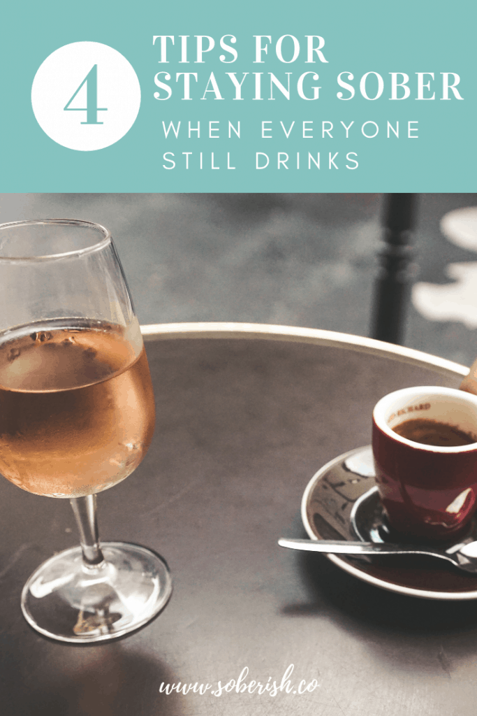 Tips and tools for staying sober when you're around people drinking