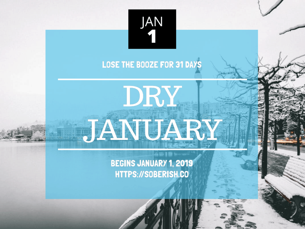 Sign up announcement for Dry January 2019