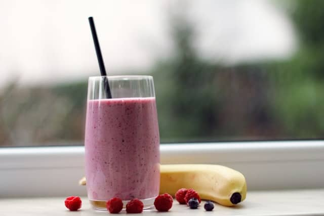 healthy smoothie as part of a morning routine