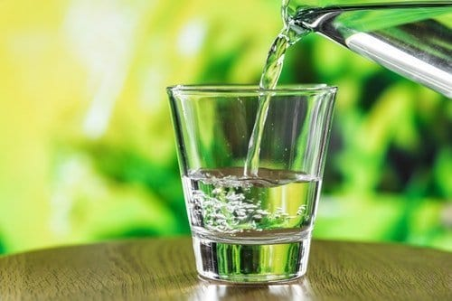glass of water as part of a morning routine