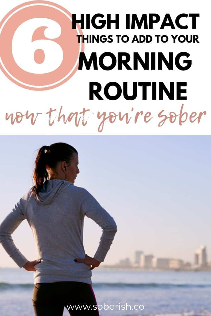 Woman exercises as part of her morning routine