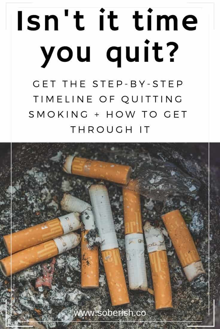 Tips for getting through the timeline of quitting smoking