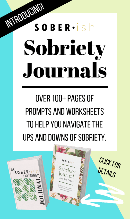 Sobriety Journals advertisement with two journals featured