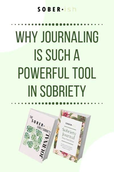 two pictures of sobriety journals