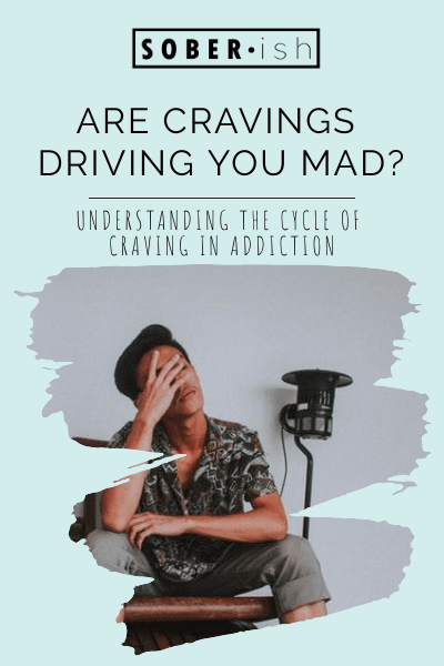 stressed man under title are cravings driving you mad